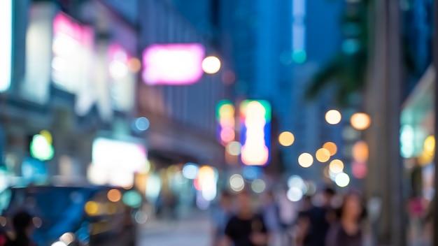Blurred hong kong walking street Premium Photo