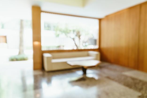 흐릿한 호텔 로비 프리미엄 사진