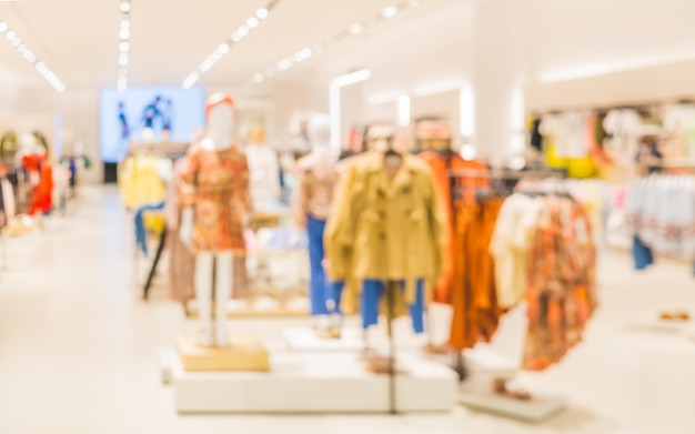 Blurred image of children's fashion clothing store Premium Photo