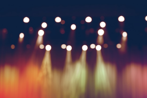 Blurred lights on stage, abstract image of spotlight concert. Premium Photo