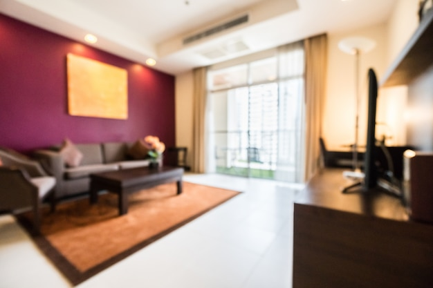 Blurred living room Photo Free Download