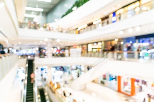 ぼやけた高級ショッピングモールと小売店 Premium写真