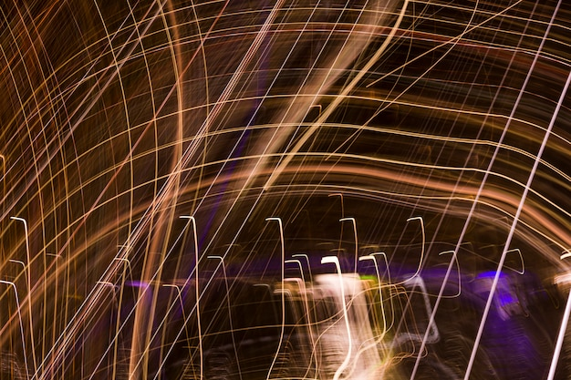 Blurred night lights Free Photo