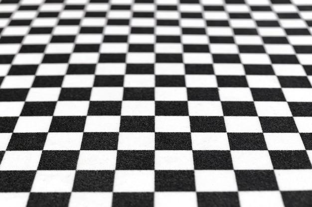체스 패턴, 흑백 배경 이미지의 흐리게 또는 Defocused 이미지 프리미엄 사진