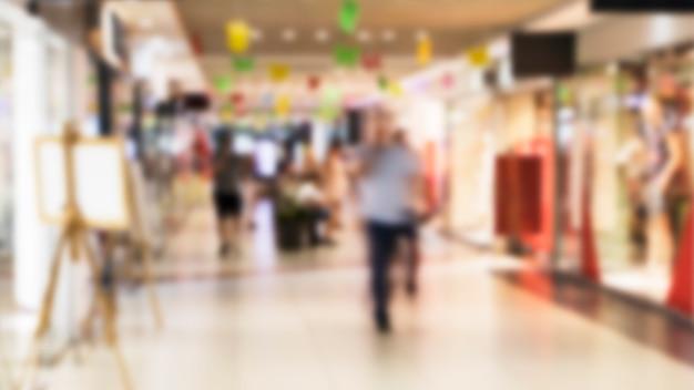 Blurred shopping mall interior Free Photo