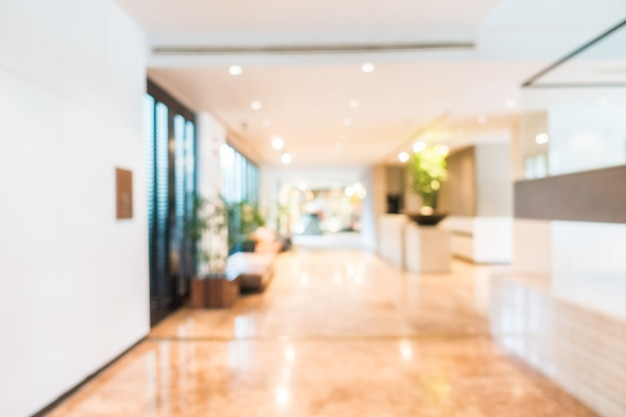 Blurred view of corridor with plants Free Photo