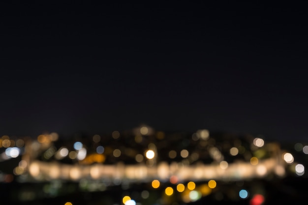 Blurred view of the night lights of the city Premium Photo
