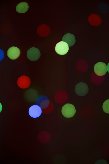 Blurs of many lights in darkness Free Photo