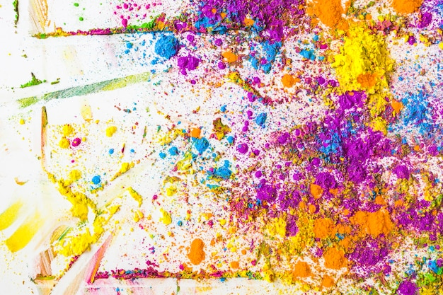 Blurs of violet, blue, orange and yellow bright dry colors Free Photo