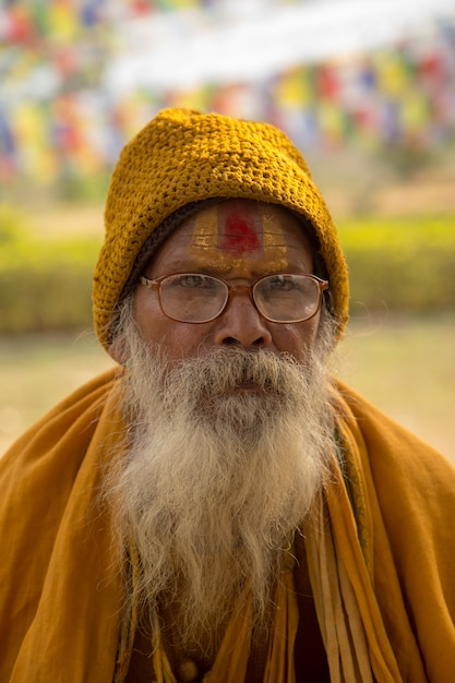 Bodhgaya、ビハール州インド -  2016年2月16日:bodhgayaの人々、およびbodh gayaは仏教の宗教的な場所です。 Premium写真