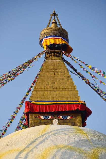 Bodhnath stupa in kathmandu, nepal. Premium Photo