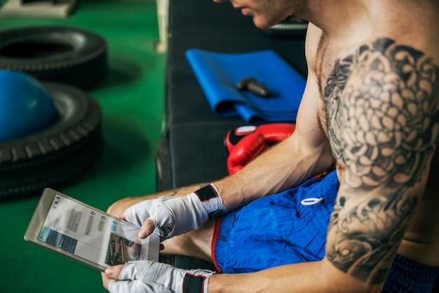 Body boxer exercise health gym fitness concept Free Photo