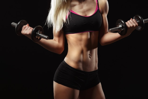 Body of woman athlete Free Photo