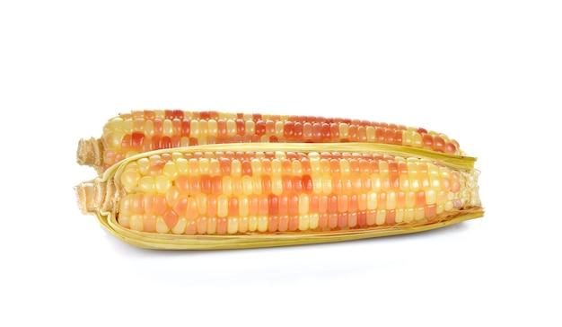 Вареная кукуруза изолированные Premium Фотографии