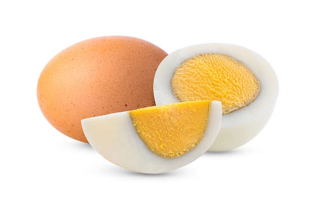 Boiled egg isolated on white Premium Photo