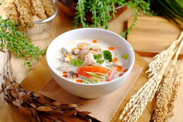 Boiled fish with tasty soup and tomato Premium Photo