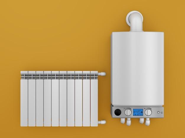 Boiler and radiator Premium Photo