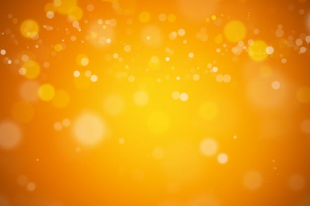 Bokeh 추상 흐리게 주황색과 노란색 아름 다운 배경 프리미엄 사진