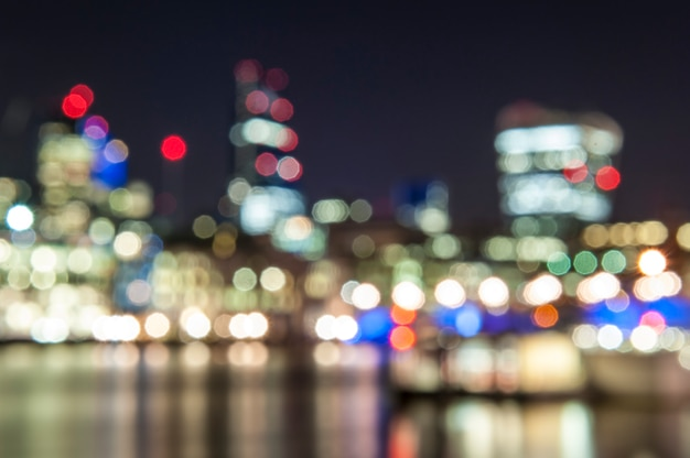 Bokeh effect in city night Premium Photo