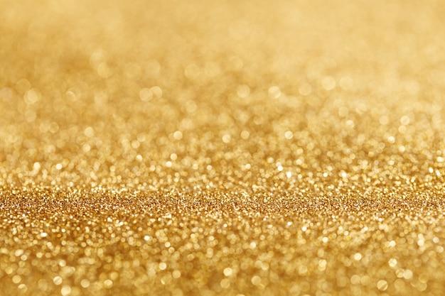 Bokeh light of gold glitters Free Photo