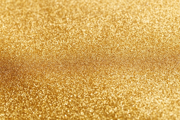 Bokeh light of gold glitters Free Photo