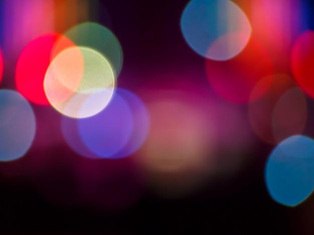 Bokeh lights colorful defocused Premium Photo