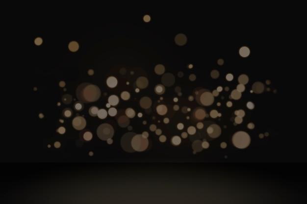 Bokeh lights product background Free Photo