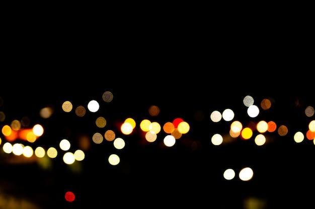 Bokeh night city Premium Photo