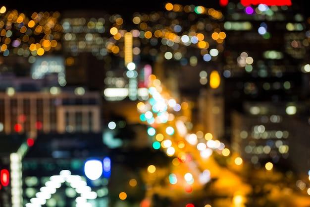 Боке оживленной городской улицы Бесплатные Фотографии