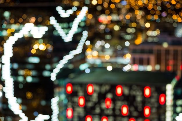 바쁜 도시 거리의 Bokeh 무료 사진