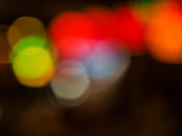 抽象的なぼかしのパステルブレンドの色のブロットのbokehの背景 Premium写真