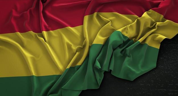 Bolivia flag wrinkled on dark background 3d render Free Photo