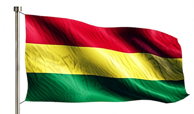 Bolivia national flag isolated 3d white background Free Photo
