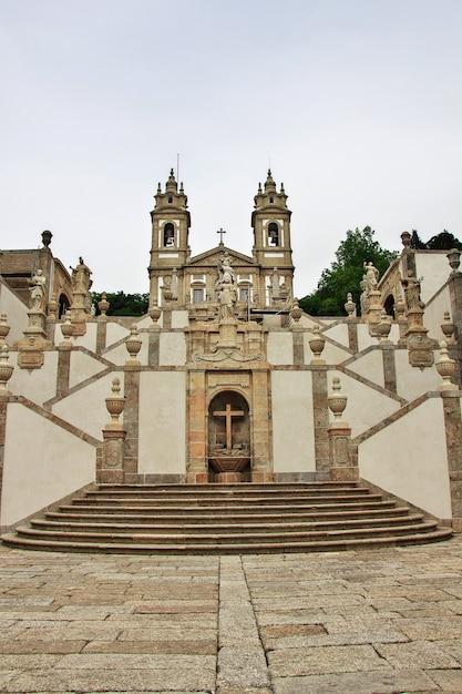 Bom jesus do monte church in braga city, portugal Premium Photo