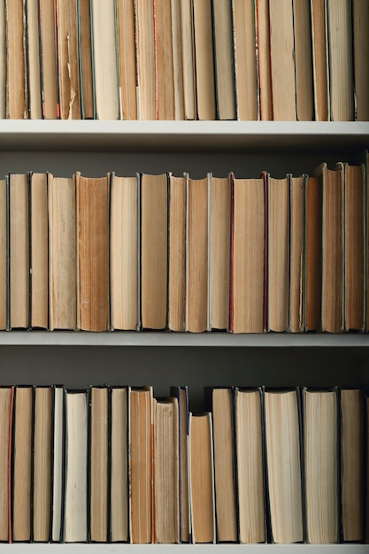 Books in the library Free Photo