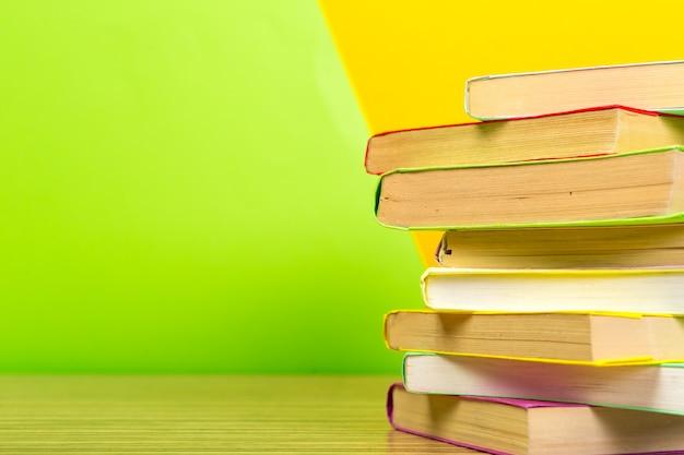 Books on the table. Premium Photo