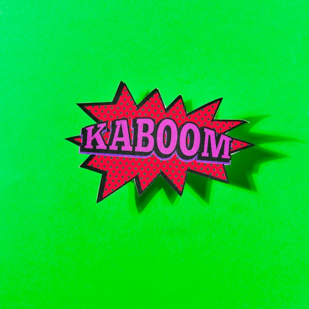 Boom sound effect design for comic green background Photo