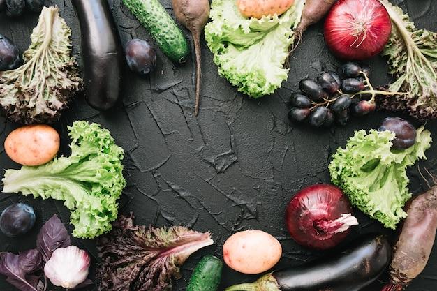 Border fron vegetables Free Photo