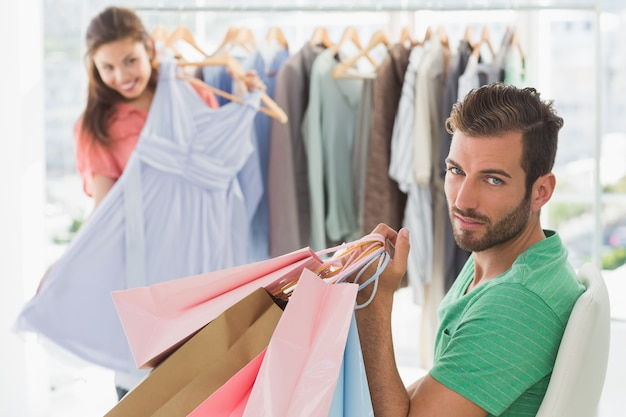 Image result for man buying clothes for woman images high quality