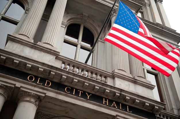 Boston city hall、ボストン、マサチューセッツ、米国 Premium写真