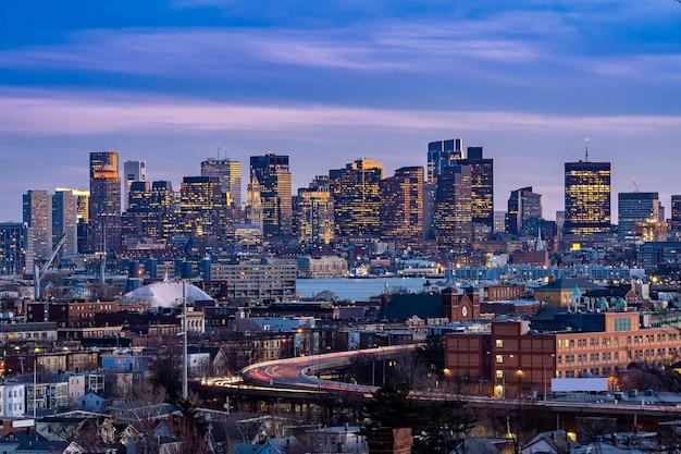 Boston cityscape Premium Photo