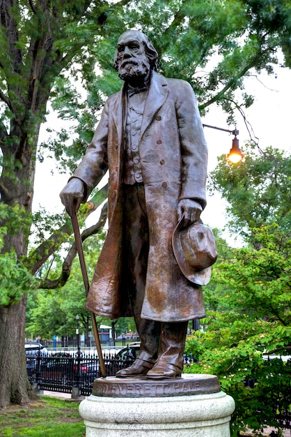 Boston common edward everett hale monument Premium Photo