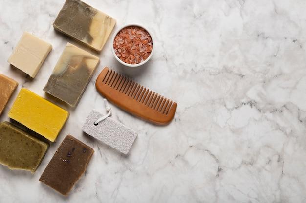 Bosyツールでさまざまな石鹸をコピースペース 無料写真