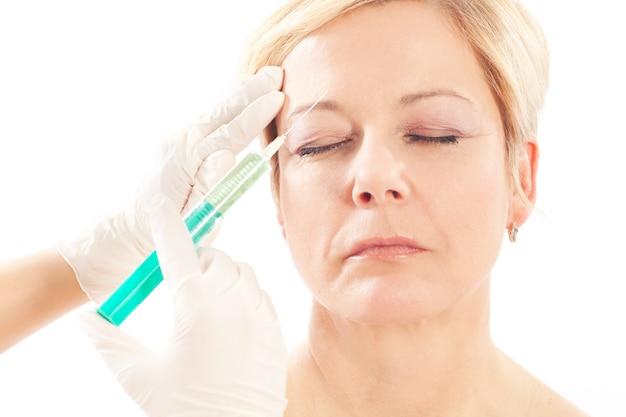 Botox - age and beauty Premium Photo