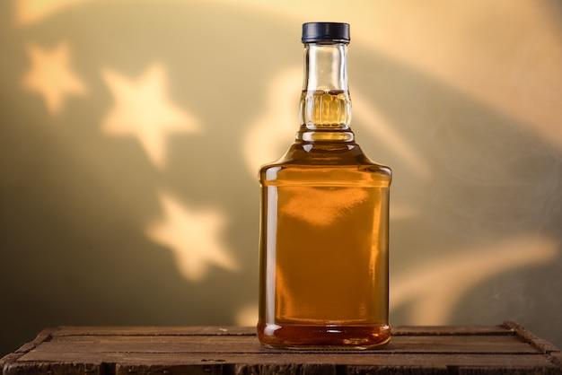 Bottle of cognac Premium Photo