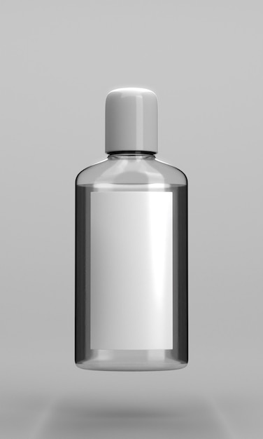 Bottle of hand sanitizer front view Free Photo