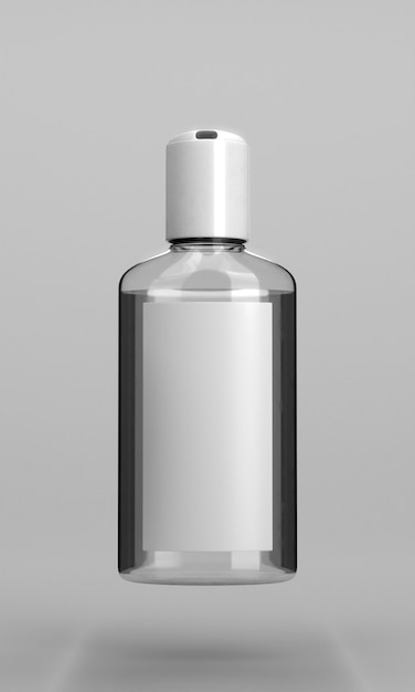 Bottle of hand sanitizer with alcohol Free Photo