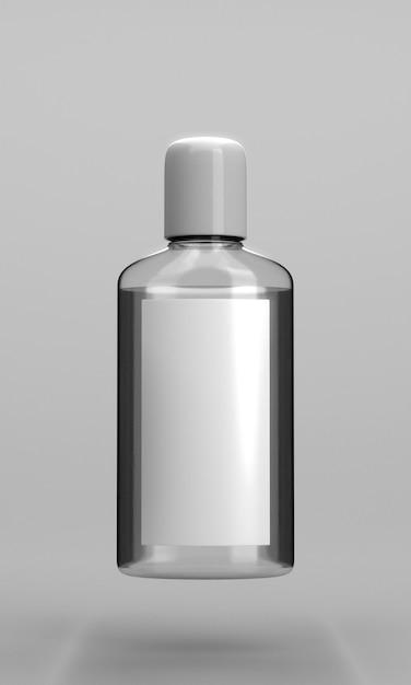 手指消毒剤のボトル正面図 無料写真