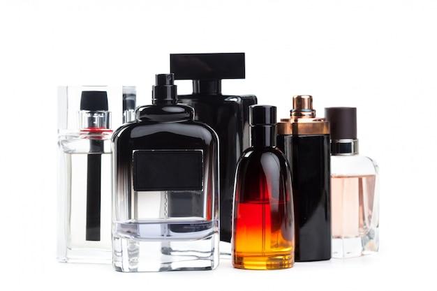 Bottle of perfume isolated of white background Premium Photo