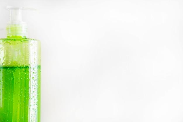 Bottle Of Skincare Product On White Background Free Photo